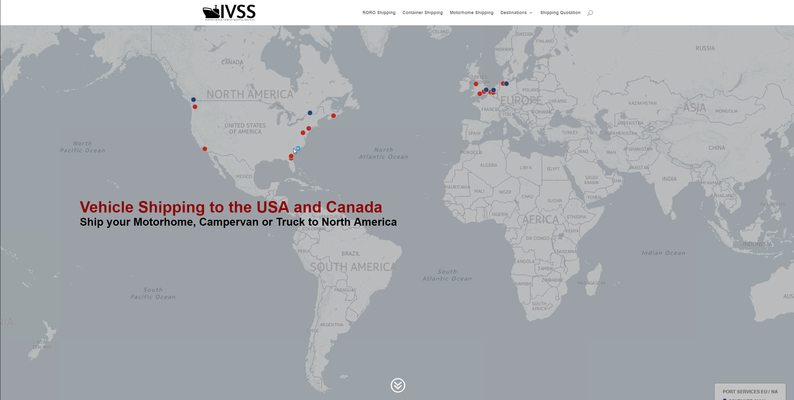 Vehicle Shipping from Europe to the USA & Canada - IVSS
