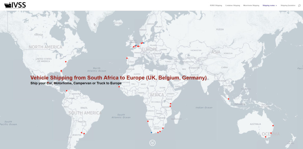 Map Of Canada And Europe.Vehicle Shipping From South Africa To Europe Uk Belgium Germany